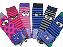 Striped kneehighs for kids with eyes