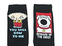 Black Family guy socks with Stewie and Brian