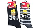 Men's socks with Homer Simpson on them in black and grey