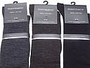woolen kneehigh socks for men from the Marcmarcs label in grey, brown, and black