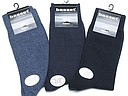 Plain mens socks Basset in blue tones
