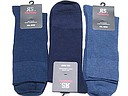 Blue cotton men's socks in a big size
