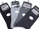 Plain mens socks Basset label in black and grey