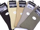 Plain mens socks Basset label in brown and beige