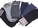 Solid colored men's socks in big sizes and various colors