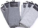 Seamless solid colored men's socks in grey tones