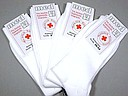 White men's health socks