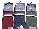 Angro woolen men's sock in burgundy, jeans, and dark green
