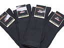 Black sports socks for men in big sizes