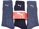 Puma sports socks in various blue shades
