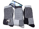 Set of three pair thermal socks in grey tones