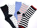 Socks for women with dots and stripes