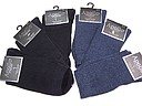 Plain seamless women's socks in black and dark denim