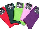 Plain macahel socks for ladies in red, dark green, lime, pink, and purple