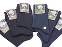 Black and navy seamless socks for women