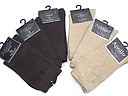 Women's sock in plain brown or beige without seam