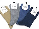 Somewhat thicker women's socks in various solid colors